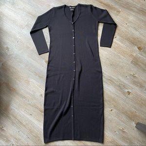 NINA LEONARD   Long Button Up Dress